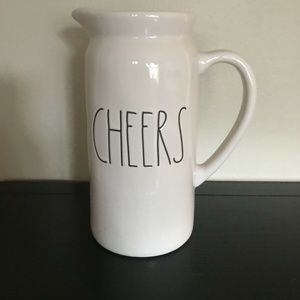 """Rae Dunn  LL Large Letter """"CHEERS"""" Pitcher NWT"""